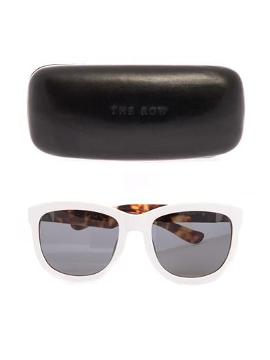 The Row Square-framed acetate sunglasses