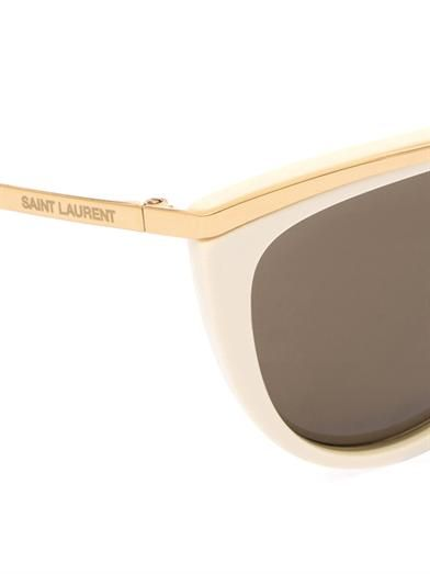 Saint Laurent Cat-eye acetate sunglasses
