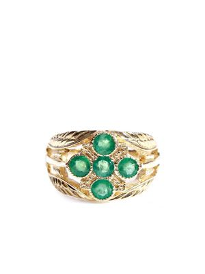 Emerald & yellow gold ring