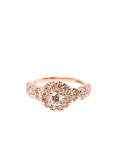 Zoe & Morgan Fine Jewellery Princess diamond and rose gold ring