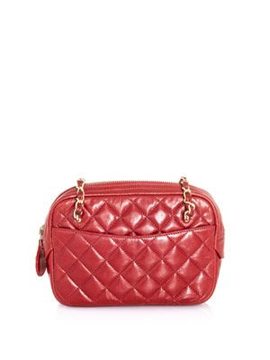 Quilted zip top bag