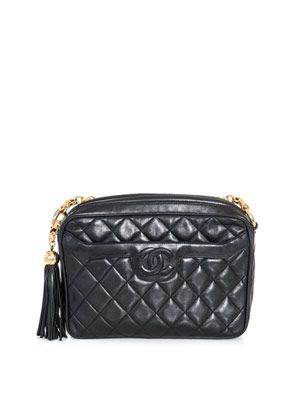 Quilted chain strap bag