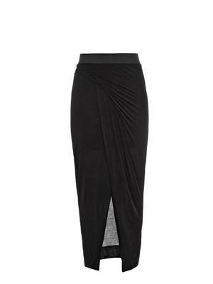 Jersey draped skirt