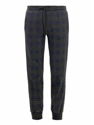 The Slim vintage plaid track pants
