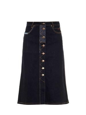 Penelope A-line denim skirt