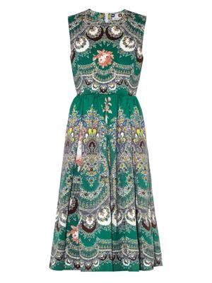 Floral paisley-print dress