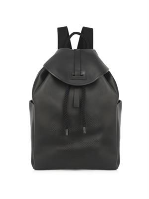 Perforated-skull leather backpack