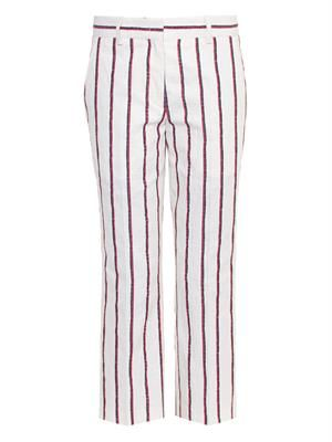 Jacob striped cropped trousers
