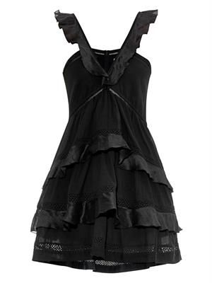 Casey ruffled cotton-blend voile dress
