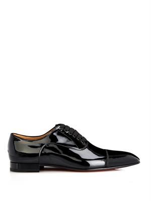 Greggo patent-leather lace-up shoes