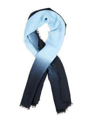 Ombré fine-knit wool scarf