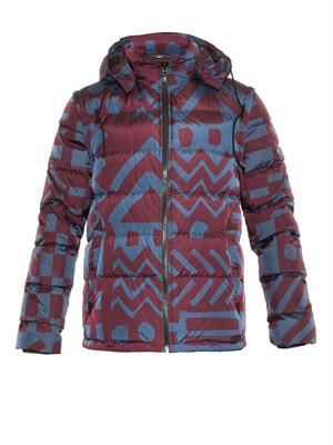 Basford printed down-filled coat