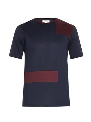 Cunningham abstract-check T-shirt