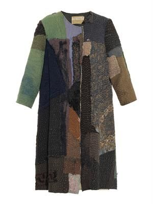 Vintage crochet patchwork swing coat