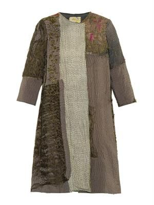 Vintage Chinese patchwork swing coat