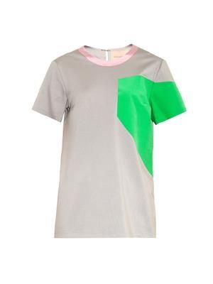 Colour-block jersey top
