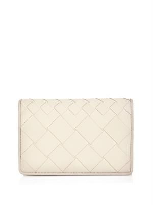 Montebello intrecciato leather clutch