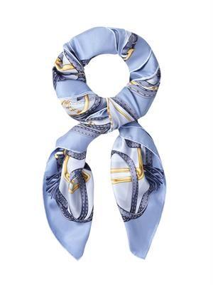 Horsebit-print silk scarf