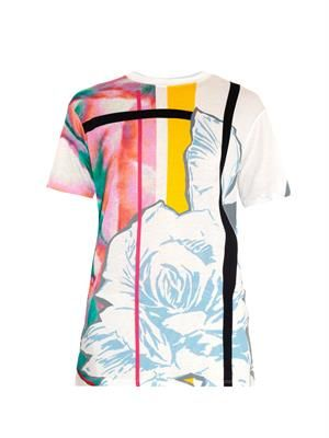 Graphic and rose-print T-shirt