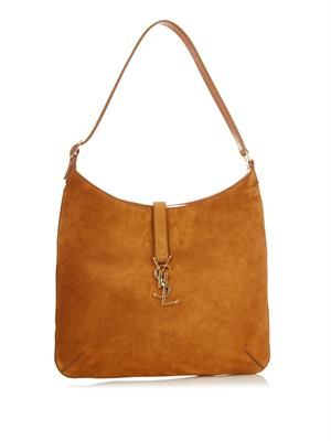 Monogram medium suede hobo bag