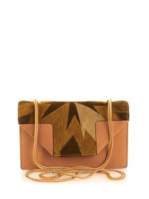 Mini Betty leather and suede bag