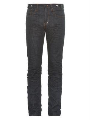 Demon-fit straight-leg jeans