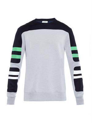 Contrast-panels sweatshirt