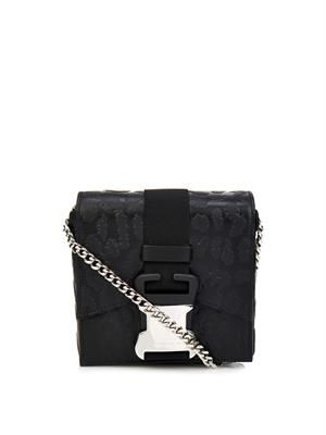 Safety Buckle leopard mini cross-body bag