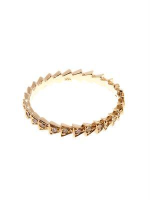 Diamond & yellow-gold Trace ring