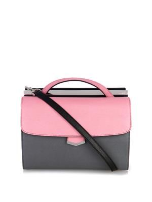 Demi-Jour colour-block leather shoulder bag