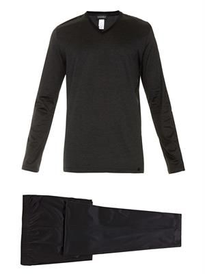 Cotton-jersey pyjama set