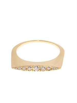 Diamond & yellow-gold Convex ring