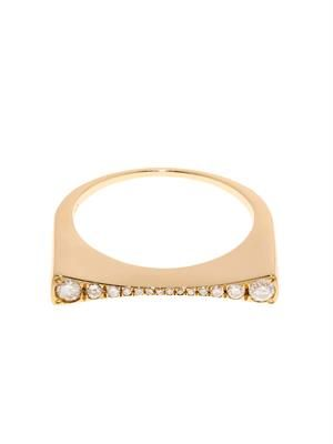 Diamond & yellow-gold Concave ring