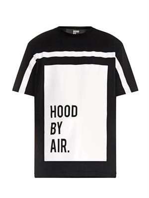 Block-print logo cotton-jersey T-shirt