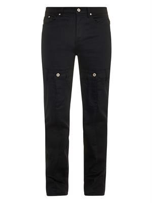 Illusion tapered-leg jeans