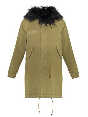 Kalgan fur-lined hooded long parka