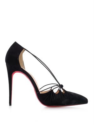 Riri 100mm suede pumps