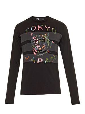 Tokyo wolf-print long-sleeved T-shirt