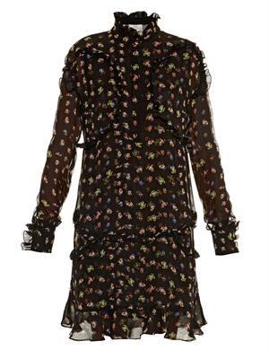 Bibi floral-print silk dress