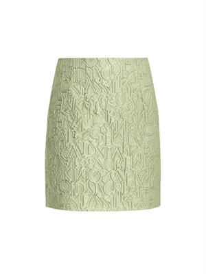Alphabet-jacquard mini skirt