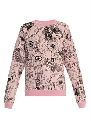 Poppies-print sweatshirt