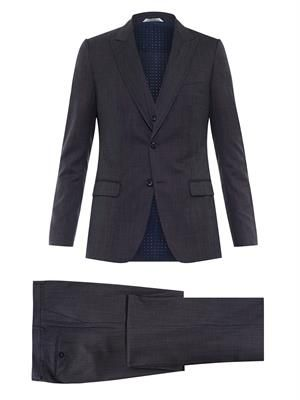 Three-piece wool suit