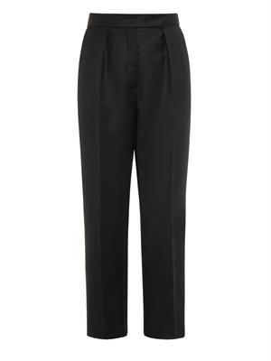 Wool-twill tuxedo trousers