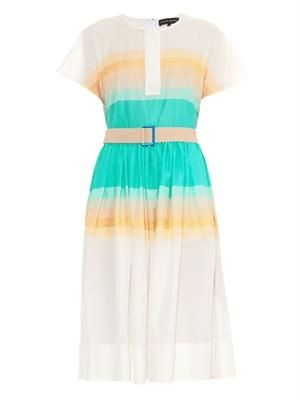 Amber striped ombré cotton dress