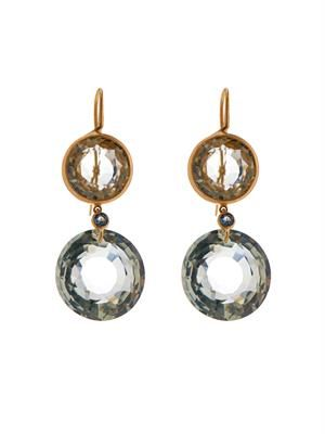 Aquamarine & yellow-gold earrings