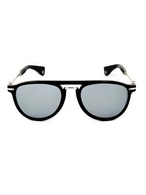 Mirrored round-framed sunglasses