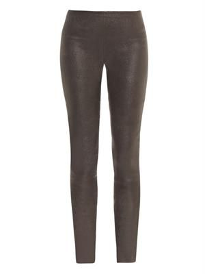 Soft-leather trousers