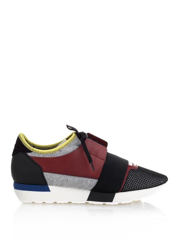 BALENCIAGA Fabric And Leather Sneakers