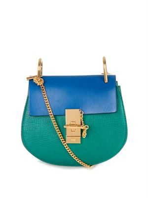 Drew mini bi-colour cross-body bag