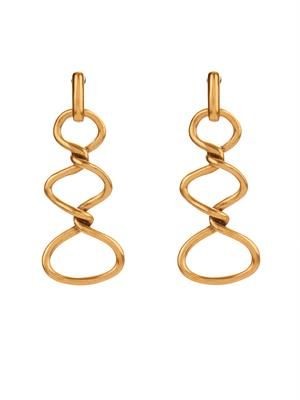 Twisted rope drop earrings